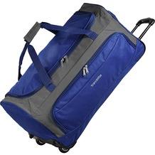 travelite Garda XL Reisetasche groß mit Rollen mit Trolley-Funktion 72 cm royal blau grau