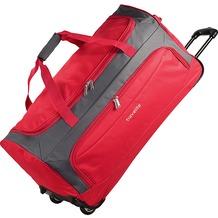 travelite Garda XL Reisetasche groß mit Rollen mit Trolley-Funktion 72 cm rot grau