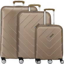 travelite Kalisto 4-Rollen Kofferset 3tlg. champagner