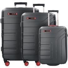 travelite Vector 2.0 2/4-Rollen Kofferset 3tlg. schwarz