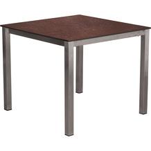 TRENDY Willington Tischplatte 90 x 90 cm ceramic rusty