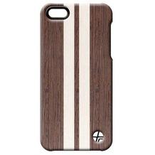 Trexta Wood Wenge für iPhone 5/5S/SE Braune Schutzschale mit Echtholzverzierung (Wenge)