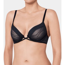 Triumph Airy Sensation Bügel-BH mit Halbschale und Push-up-Effekt BLACK 85B