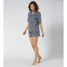 Triumph Boyfriend Pyjama (kurz, Strickware) Boyfriend-Style blue - dark combination 36