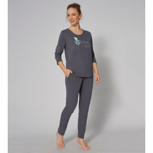 Triumph Sets Pyjama 02 Langarm pebble grey 36