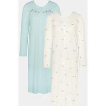 Triumph Timeless Cotton Nachthemd (Strickware) 2-PACK silk white 36/38
