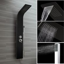 Tronitechnik Duschpaneel ZEUS Aluminium schwarz