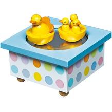 Trousselier Holz Spieldose Tanzende Enten