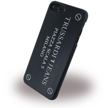 Trussardi Metall Hardcover - Apple iPhone 7 Plus / iPhone 8 Plus - Schwarz