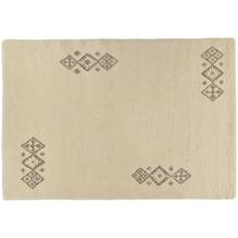 Tuaroc Berberteppich Zagora mit ca. 130.000 Florfäden/m² wollweiß mit Muster 70 x 140 cm