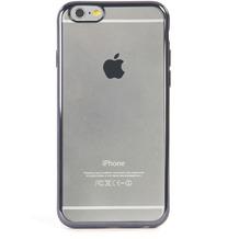 Tucano Elektro Flex, transparente Silikonhülle mit farbigem Rand für iPhone 6/ 6S, schwarz