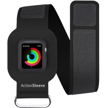 twelve south ActionSleeve Neopren Armband für 38mm Apple Watch, black