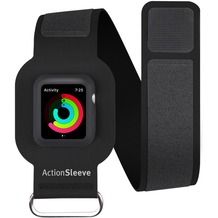 twelve south ActionSleeve Neopren Armband für 42mm Apple Watch, small, black