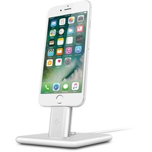 twelve south HiRise Deluxe 2 Desktop Stand inkl. Lighting und Micro-USB-Kabel for iPhone, Smartphones, silver