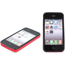Twins 2Color Bumper für iPhone 4/4S, schwarz-rot