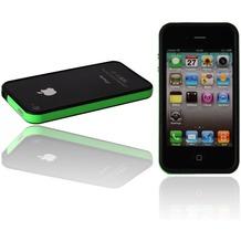 Twins 2Color Bumper für iPhone 4, schwarz-neongrün