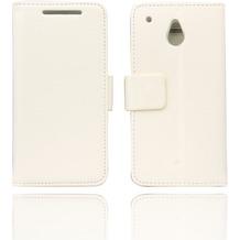Twins BookFlip Premium für HTC One mini, weiß