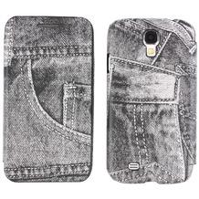 Twins BookFlip Jeans für Samsung Galaxy S4, grau