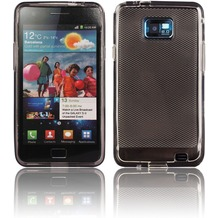 Twins Bright Grip für Samsung i9100 Galaxy S2, grau