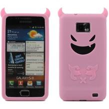 Twins Devil für Samsung i9100 Galaxy S2, pink