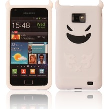 Twins Devil für Samsung i9100 Galaxy S2, weiß
