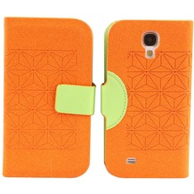 Twins Elegant BookFlip für Samsung Galaxy S4, orange-grün
