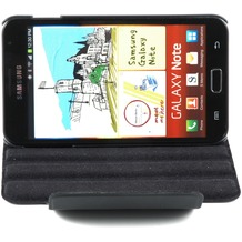 Twins Folio Stand 360 für Samsung Galaxy Note, schwarz-schwarz
