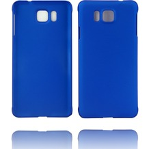 Twins Hardcase Softtouch für Galaxy Alpha,blau