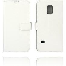 Twins Kunstleder Flip Case für Galaxy S5 mini,weiß