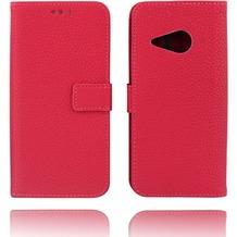 Twins Kunstleder Flip Case für HTC M8 mini, rose
