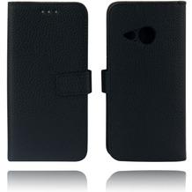 Twins Kunstleder Flip Case für HTC M8 mini,schwaz