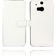 Twins Kunstleder Flip Case für HTC M8,weiß