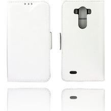 Twins Kunstleder Flip Case für LG G3 ,weiß
