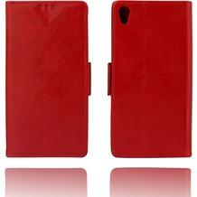 Twins Kunstleder Flip Case für Xperia Z3,rot