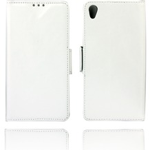 Twins Kunstleder Flip Case für Xperia Z3,weiß