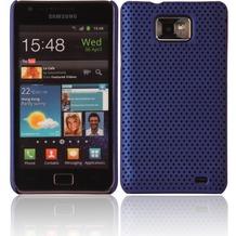 Twins Perforated Big für Samsung i9100 Galaxy S2, blau