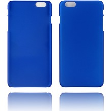 Twins Rubber oil finished Case für iPhone 6 Plus blau Matt