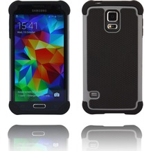 Twins Rugged Case für Galaxy S5, zweiteilig, schwarz,grau