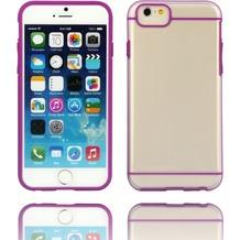 Twins Shield Akzent - Schutzhülle für iPhone 6 Plus, transparent/lila