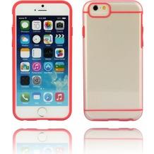 Twins Shield Akzent - Schutzhülle für iPhone 6 Plus, transparent/rot