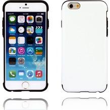 Twins Shield Matte Lederoptik für iPhone 6,weiß-schwarz