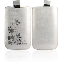 Twins Shiny Pouch Elegance für Samsung i9000 Galaxy S, silber