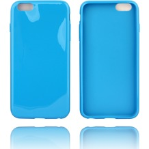 Twins Soft Case glossy mit abgerundeten Kanten für iPhone 6 Plus- blau