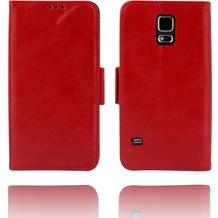 Twins Kunstleder Flip Case für Galaxy S5,rot
