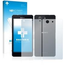 upscreen Bacteria Shield Clear Premium Displayschutzfolie für Sony Xperia Z3 Compact D5803 Vorder + Rückseite