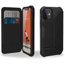 Urban Armor Gear Metropolis Folio Case, Apple iPhone 12 mini, FIBR ARMR schwarz, 112346113940