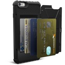 Urban Armor Gear Trooper Card Case - Apple iPhone 6 Plus/6S Plus - Schwarz