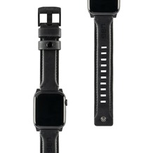 Urban Armor Gear UAG Urban Armor Gear Leather Strap, Apple Watch 42/44mm, schwarz, 19148B114040