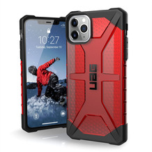 Urban Armor Gear UAG Urban Armor Gear Plasma Case, Apple iPhone 11 Pro Max, magma (rot transparent), 111723119393