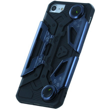 UreParts Crab Style, Silikon Cover, Apple iPhone 7 / 8, Schwarz